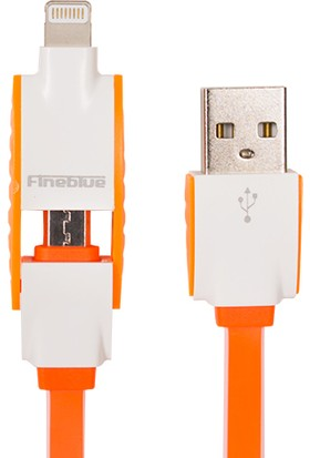 Fineblue Hızlı Şarj Ve Usb Data Kablo Renkli 2 İn 1 Fc10