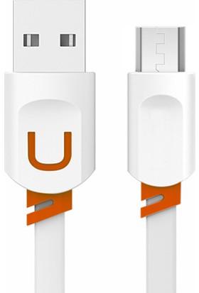 Fineblue Micro Usb Yassı Hızlı Şarj Ve Usb Data Kablo Beyaz Fc6