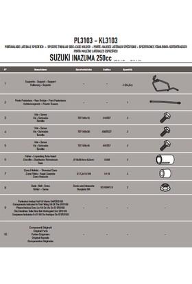 Gıvı Pl3103 Suzukı Inazuma 250 (12-16) Yan Çanta Taşıyıcı