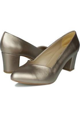 Loggalin 580711 031 779 Kadın Altın Abiye Ayakkabı