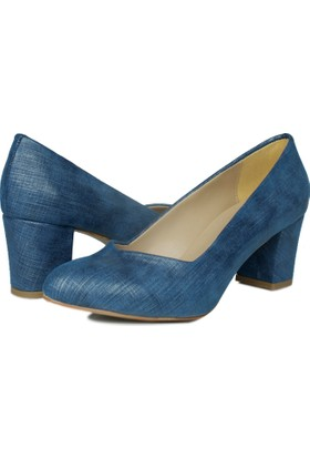 Loggalin 580711 031 414 Kadın Mavi Abiye Ayakkabı