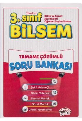 Editör Yayınevi 3. Sınıf Bilsem Tamamı Çözümlü Soru Bankası - Hüseyin Gül