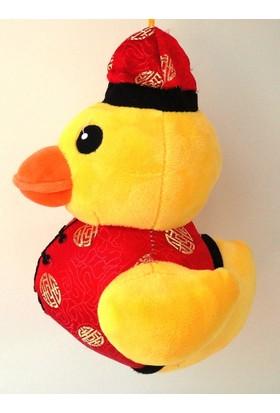 Peluşcu Baba 22 cm Şişman Aşçı Ördek Şişko Peluş Oyuncak Sağlıklı