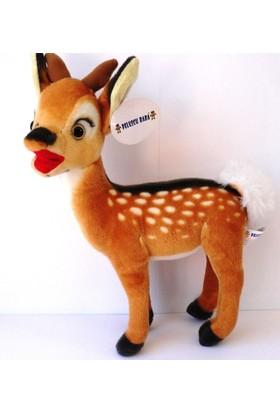 Peluşcu Baba 40 cm Bambi Ceylan Gerçek Yüzlü Peluş Oyuncak Sağlıklı