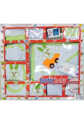 Burtaç Baby Bizim Bebek 13 Parça Bebek Zıbın Seti Yeşil
