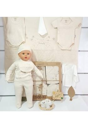 Bebbek Bizim Bebek Organik Kumaş Kelebek 10'lu Zıbın Seti