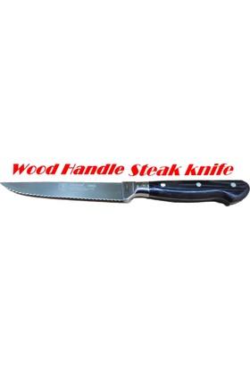 Sürbısa Sürmene 61003 Ahşap Saplı Steak ( Biftek ) Bıçağı 12.5 Cm