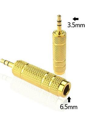Ti-Mesh Gold 6.35Mm Dişi 3.5 Erkek Çevirici
