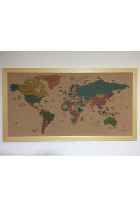 Mapofx Renkli Mantar Dünya Haritası
