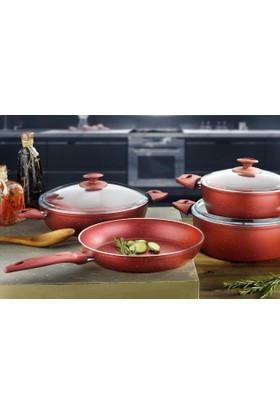 Euro-Pan Euronitt Proff Cookware 7 Parça Tençere Seti
