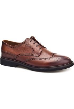 Cabani Bağcıklı Günlük Erkek Ayakkabı Taba Kırma Deri