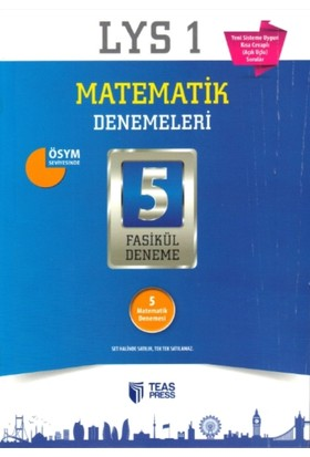 Teas Press-Sınav Yayınları Lys 1 Matematik Denemeleri 5 Fasikül Deneme