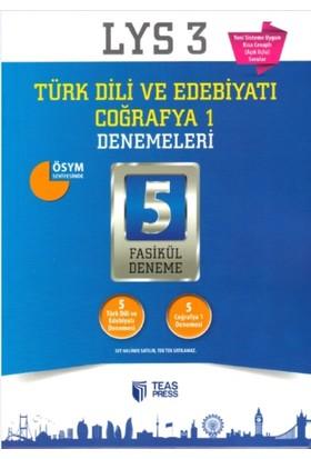 Teas Press-Sınav Yayınları Lys 3 Türk Dili Ve Edebiyatı, Coğrafya 1 5 Fasikül Deneme