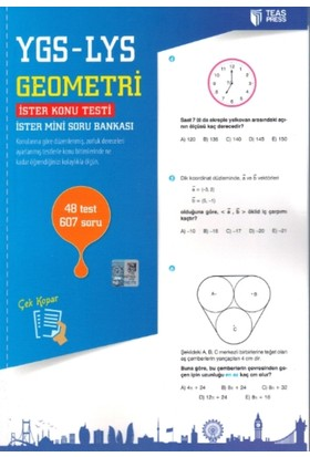 Teas Press-Sınav Yayınları Ygs - Lys Geometri Yaprak Test Çek Kopar