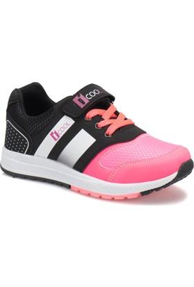 I Cool Enough Siyah Neon Pembe Kız Çocuk Sneaker Ayakkabı