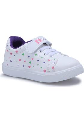 I Cool Lovely Beyaz Kız Çocuk Sneaker Ayakkabı