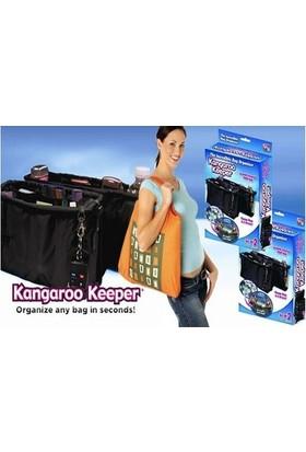 Toptancı Kapında Kangaroo Keeper Çanta İçi Düzenleyici - Siyah
