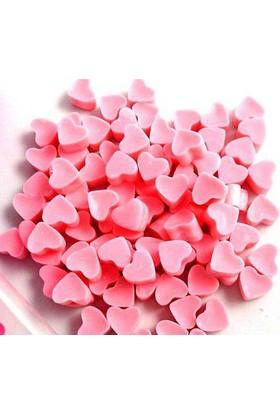 Toptancı Kapında Kalp Şeklinde Kırmızı Mum 50 Adet - Pembe