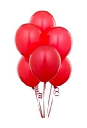 Toptancı Kapında Balon 100 Adet - Kırmızı
