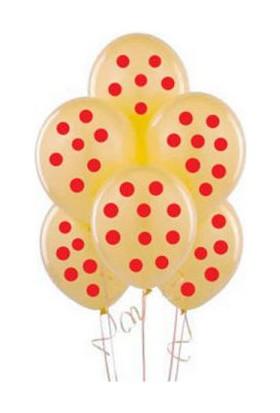 Toptancı Kapında Puanlı Balon 100 Adet - Sarı - Kırmızı