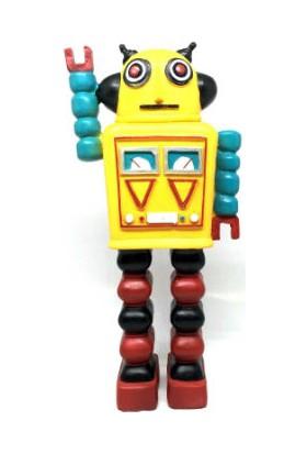 Toptancı Kapında Decotown Nostaljik Uzaylı Robot Biblo - OB248