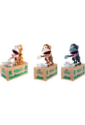 Toptancı Kapında Para Yiyen Maymun Kumbara Robotic Monkey Bank