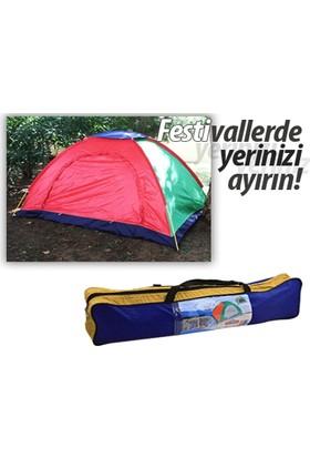 Toptancı Kapında 6 Kişilik Kolay Kurulumlu Kamp Çadırı