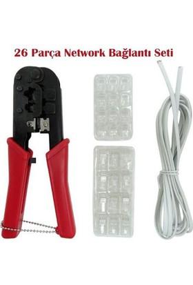 Toptancı Kapında 26 Parça Network Bağlantı Seti