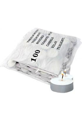 Toptancı Kapında Tealight Mum 100'lü Paket