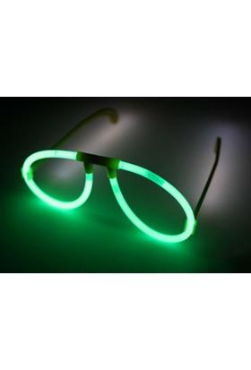 Toptancı Kapında Yeşil Glow Stick Işıklı Gözlük