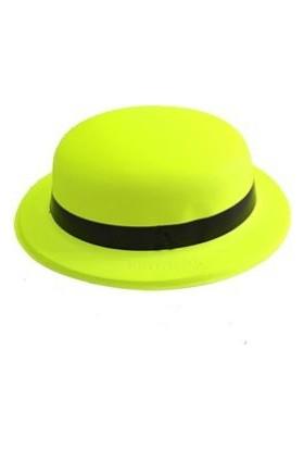 Toptancı Kapında Neonlu Plastik Parti Şapkası - Sarı