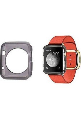 Alaca Apple Watch 42 Mm Kılıf Ultra İnce Silikon Tpu