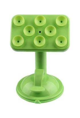Toptancı Kapında Renkli Araç İçi Vantuzlu Telefon Tutucu - Yeşil