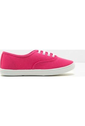 Koton Kadın Bağcıklı Ayakkabı Fuşya
