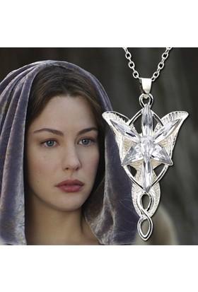 A-Leaf Lord Of The Rings Arwen Evenstar Akşam Yıldızı Elf Zirkon Kolye