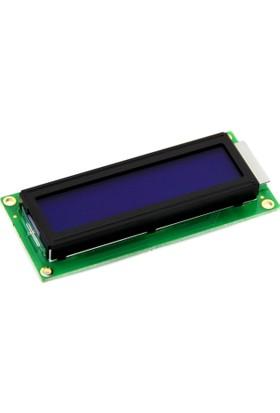 Robotekno LCD Ekran 1602 16x2 Mavi Aydınlatmalı Arka Işık Arduino