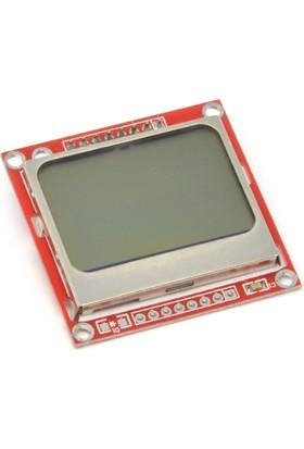 Robotekno Nokia 5110 LCD Ekran Modülü Aydınlatmalı 84x48 LCD Modül Işıklı Arduino Uyumlu Grafik LCD