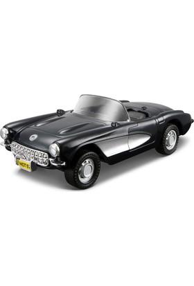 Maisto 1957 Chevrolet Corvette Çek Bırak Oyuncak Araba 12 cm
