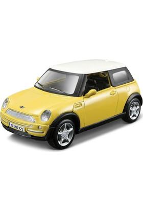 Maisto Mini Cooper Sarı Çek Bırak Oyuncak Araba 12 cm