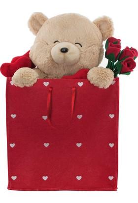 Neco Plush Sevgiliye Hediye Fluffy Çantada Ayı 55 cm