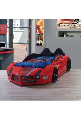 FastBack Araba Yatak Döşemeli Kırmızı