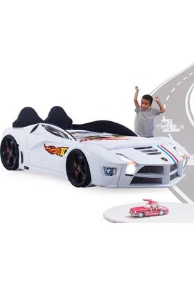 FastBack Araba Yatak Döşemeli Beyaz