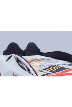 FastBack Araba Yatak Full Beyaz