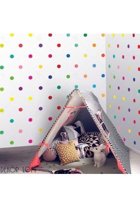 DekorLoft Puantiyeli Renkli Çocuk Odası Duvar Sticker CS-113