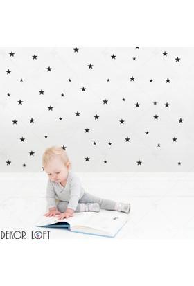 DekorLoft Siyah Yıldızlar Çocuk Odası Duvar Sticker CS-116