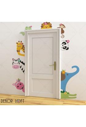 DekorLoft Kapı Arkadaşlarım Çocuk Odası Duvar Sticker CS-119
