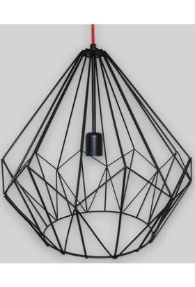 Klite Wire Rena Avize - Siyah