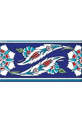 Kütahya Armada Çini 10X20 Cm Ks 18 Cami Çinisi Osmanlı Desenli Seramik Çini Bordür