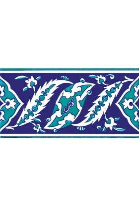 Kütahya Armada Çini 10X20 Cm Ks 9 Cami Çinisi Rumi Desenli Seramik Çini Bordür
