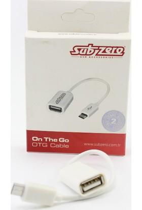 Subzero Subzero Micro USB 2.0 Tablet ve Akıllı Telefon İçin USB Giriş Dönüştürücü OTG Kablo